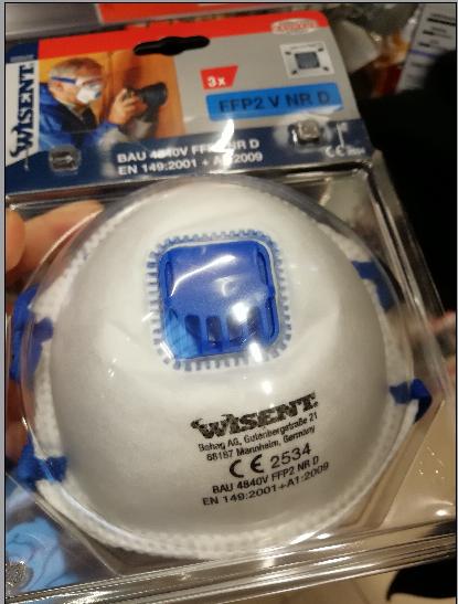 德国WISENT FFP2 口罩 带气阀