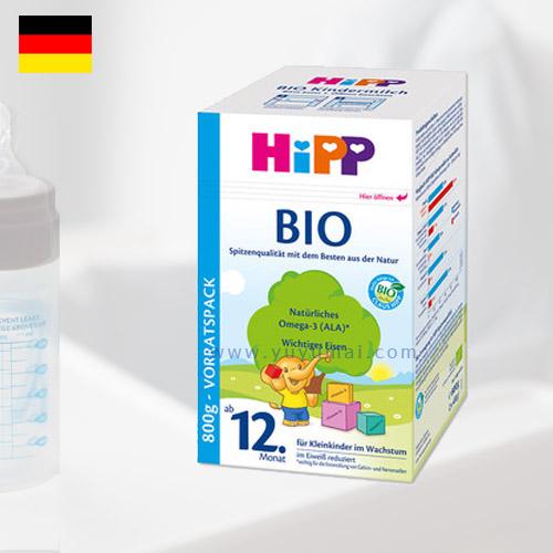 德国喜宝常规有机奶粉12+段 1-6岁 800g