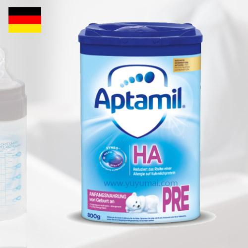 德国爱他美半水解HA免敏奶粉PRE段,0-3个月,800g